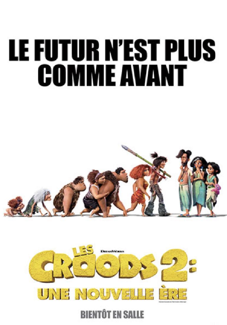 Poser pour Les Croods 2 : une nouvelle ère